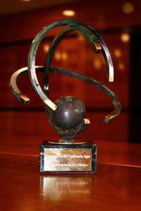 Imagen del trofeo @asLAN recibido por Ibermutua.