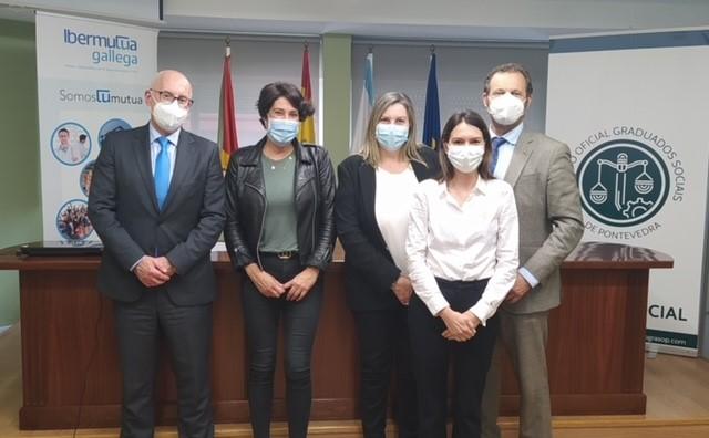 Ibermutua firma un convenio de colaboración con el Colegio Oficial de Graduados Sociales de Pontevedra